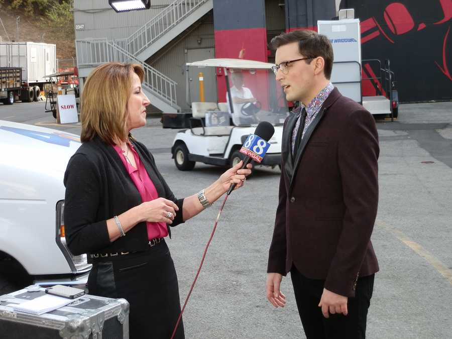 Our crew is in LA for NBC's hit show, 'The Voice.' This is Lori interviewing Lancaster native, James Wolpert.