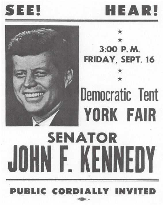 JFK also visited York.