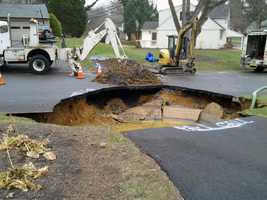 Tuesday, Nov. 26:Crews repaired a sinkhole in Lower Allen Township, Cumberland County. The sinkhole opened early Tuesday at the end of a driveway in the 400 block of Deerfield Road. Officials with Pennsylvania American Water said an 8-inch cast iron pipe broke. The sinkhole also caused a UGI gas service line to break.