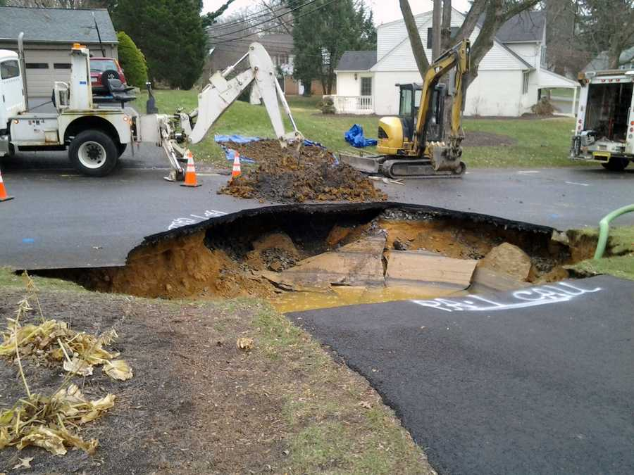 Tuesday, Nov. 26: Crews repaired a sinkhole in Lower Allen Township, Cumberland County. The sinkhole opened early Tuesday at the end of a driveway in the 400 block of Deerfield Road. Officials with Pennsylvania American Water said an 8-inch cast iron pipe broke. The sinkhole also caused a UGI gas service line to break.