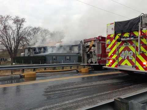 Fire destroyed a furniture business Tuesday in Leacock Township, Lancaster County.