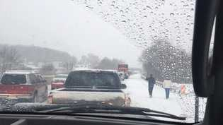 A viewer shared this photo on u local of traffic on the Pa. Turnpike.