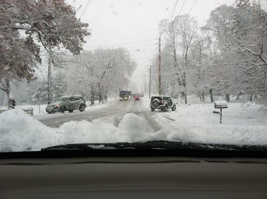 Marietta Avenue in Lancaster Township around 9 a.m. Tuesday.