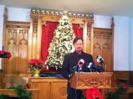 """Monday, Dec. 16:Lebanon County Pastor Frank Schaefer spoke out just days before his 30-day suspension from the United Methodist Church comes to an end. Schaefer said he cannot uphold the United Methodist Book of Discipline, but he will not voluntarily hand over his credentials because he wants to stay in the United Methodist church. The """"ball is now back in church's court,"""" he said. Last month, Schaefer, who leads Zion United Methodist Church of Iona in Lebanon County, was convicted of breaking church law for officiating over the same-sex marriage of his son in 2007."""