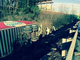 A tractor-trailer driver lost control of his rig Tuesday morning in York County and ended up in a ditch along I-83.