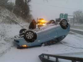 A separate rollover crash happened on Interstate 83 northbound between George and Queen streets. No one was injured.
