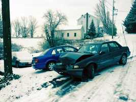 These cars collided on Druck Valley Road in York County.