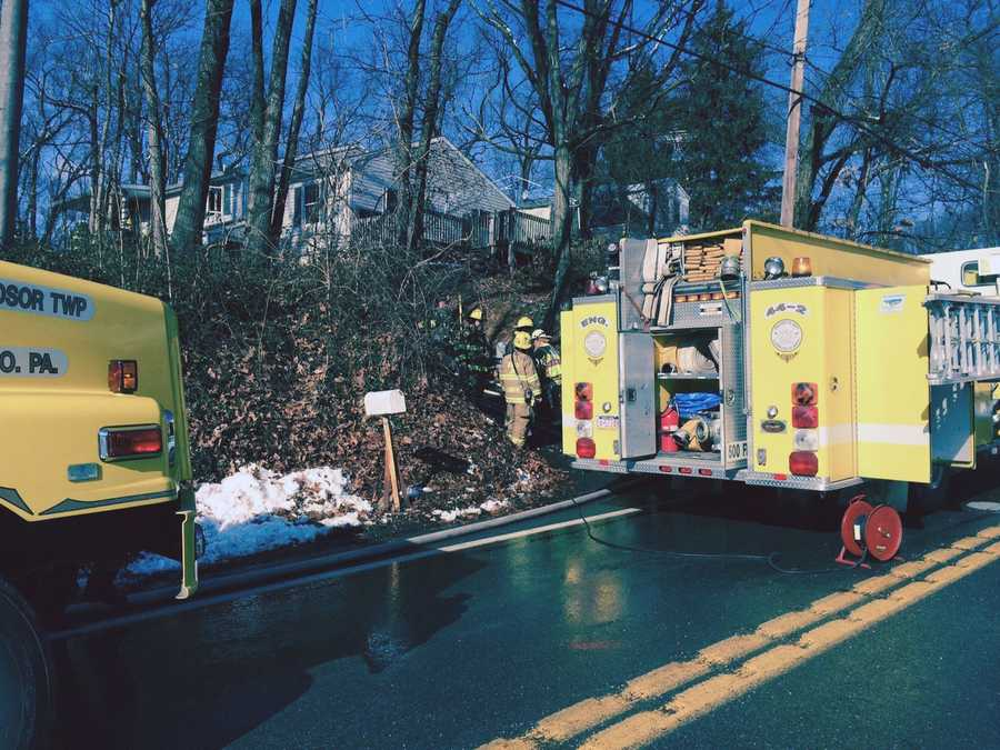 Crews in Lower Windsor Township, York County, battled a fire on Thursday afternoon.