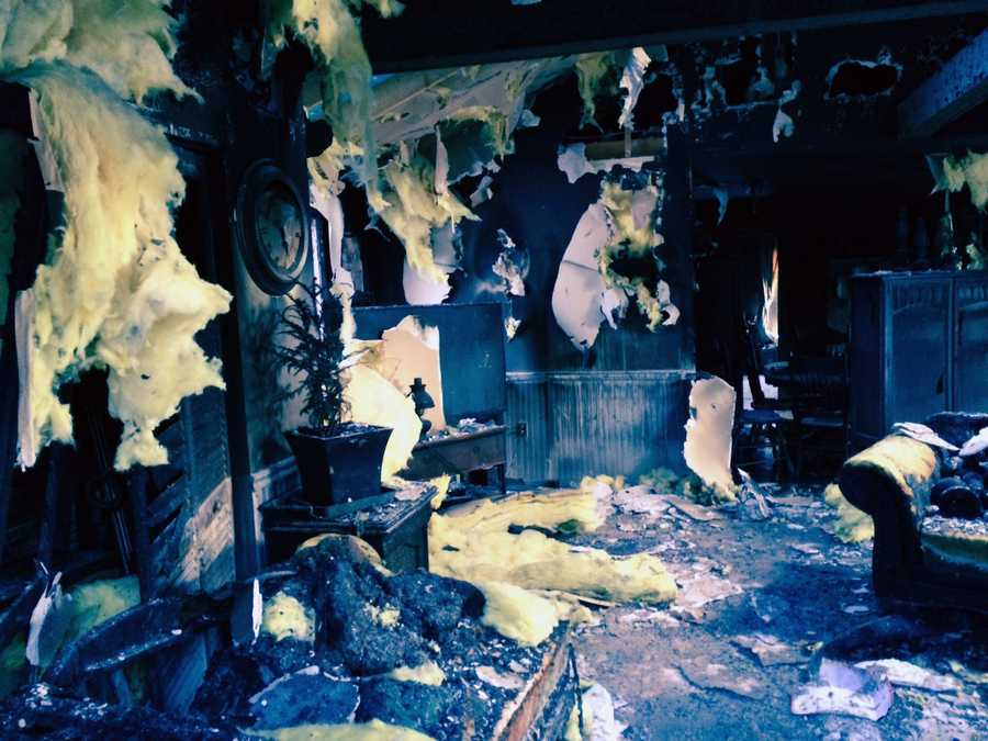 Fire officials said a Christmas tree sparked the blaze.