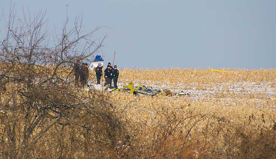 Thursday, Dec. 26: At least two people are dead after a small plane crashed Thursday morning into a cornfield near Biglerville, Adams County. The crash happened about 5:30 a.m. Thursday just off Route 234. The FAA and the NTSB are investigating why the Piper PA30 Twin Commanche crashed. Autopsies on the victims are scheduled for Friday. Dental records and possibly DNA will be used to identify the victims.