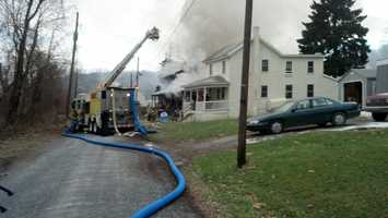 Firefighters battled two house fires Friday afternoon in Newberry Township, York County.