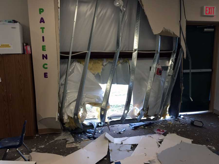 The car crashed into a wall at the York city campus of Stillmeadow Church of the Nazarene about 6:20 a.m. Thursday.