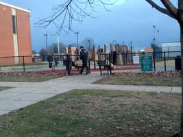 Officers found one shell casing on the playground.