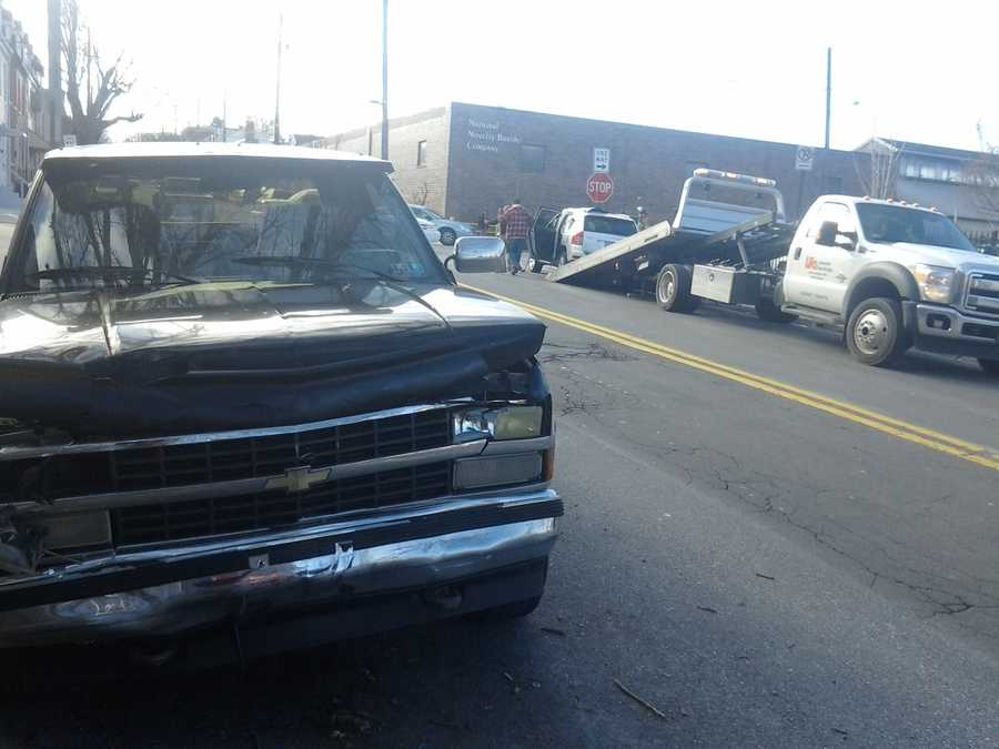 The accident happened around 9:30 a.m. at the intersection of Marshall and Walnut streets.