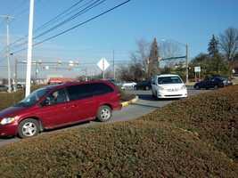 Traffic was diverted around the crash.