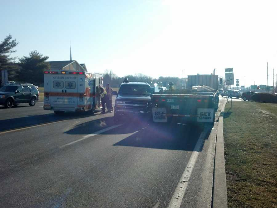 The collision happened in Manheim Township, Lancaster County, on Fruitville Pike near Roseville Road.
