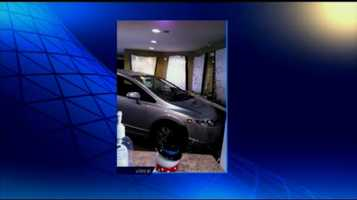 A car crashed into an eye doctor's office on Londonderry Road in Lower Paxton Township Friday.