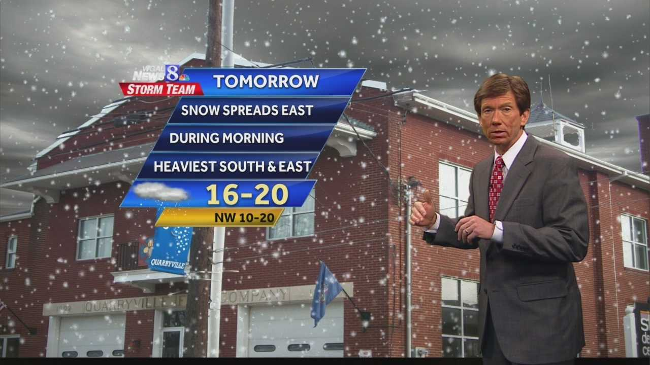 News 8 at Noon 1.20.14 noon forecast