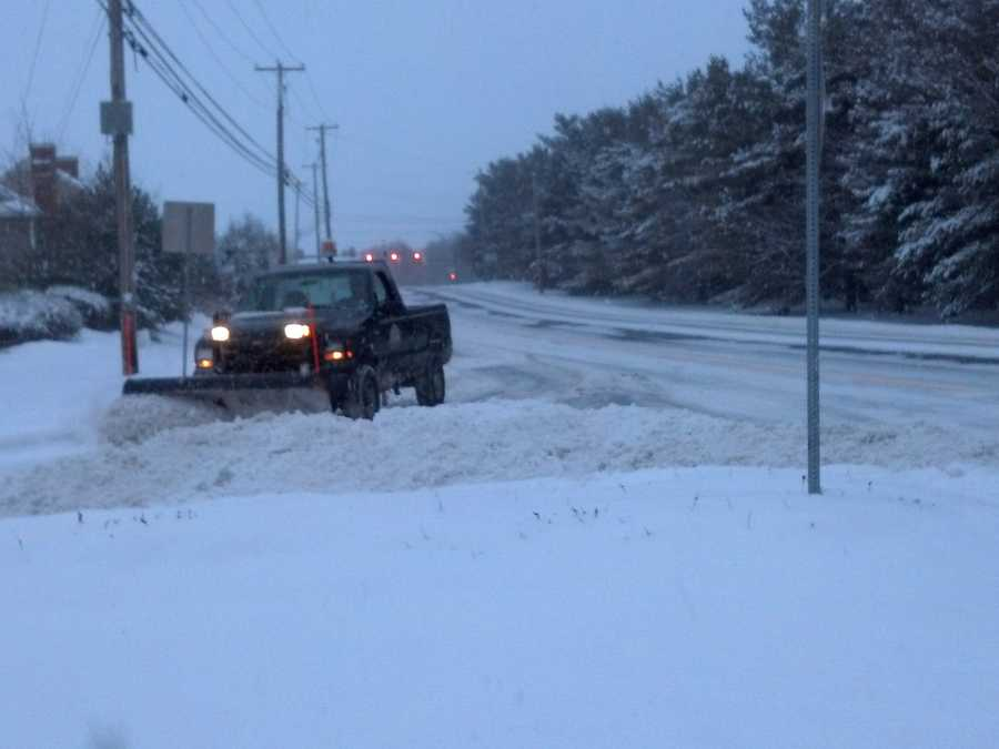 This snow plow is along Fruitville Pike and Rt. 72 in Lancaster County.