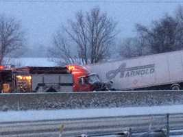 Accident along I-83, York County, 4:30 p.m. Tuesday.