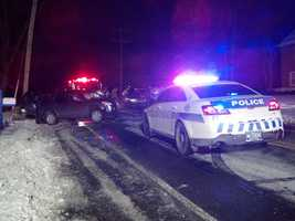 A two vehicle crash on Fruitville Pike near Biscayne Road in Manheim Township shut down the road just before 6 p.m. Wednesday.