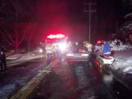 Two people were taken to the hospital as a result of the collision but are expected to be OK.