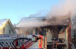 The two-alarm fire happened at a house on the 700 block of West Main Street.