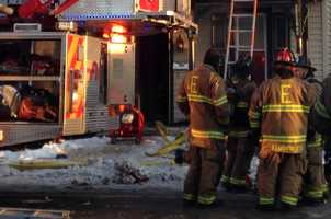 Crews were able to put the fire out around 7:50 a.m.