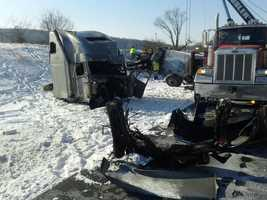 A tractor-trailer was involved in a crash early Thursday morning on Route 222 in Lancaster County.