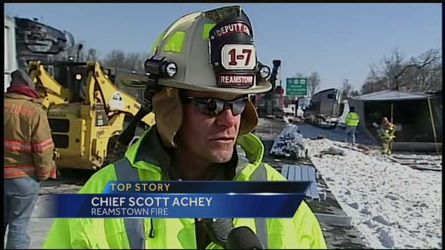 """""""It was a very forceful impact,"""" said Reamstown Fire Chief Scott Achey."""