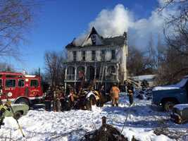 Crews battled a house fire in Chanceford Township, York County, Friday morning.