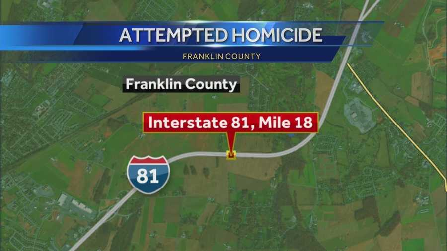 The incident happened near Chambersburg, Franklin County, on Interstate 81.