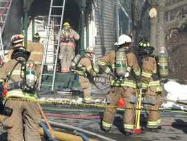 The fire started in a home on the 300 block of West North Street shortly before 11 a.m. No one was home at the time.