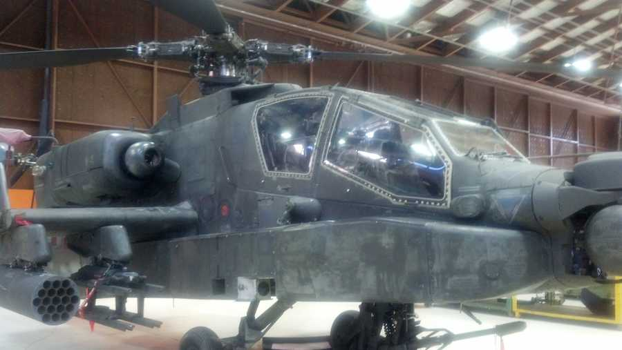 This is one of the Apaches at Fort Indiantown Gap, Pa.