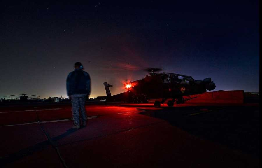 The Apache conducts armed reconnaissance, close combat, mobile strike, and vertical maneuver missions when required, in day, night, obscured battlefield, and adverse weather conditions.