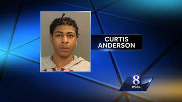 Curtis Anderson, 17, is charged in a shooting that left a 14-year-old girl critically injured.