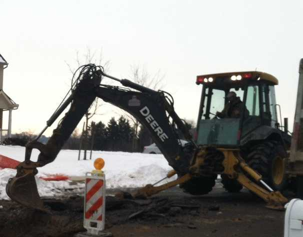 Officials said the water may have been flowing underground for quite some time.