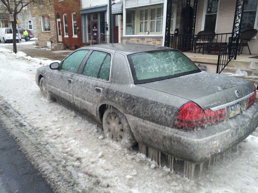 It happened on College Avenue near Columbia Avenue on Friday when a water main broke.