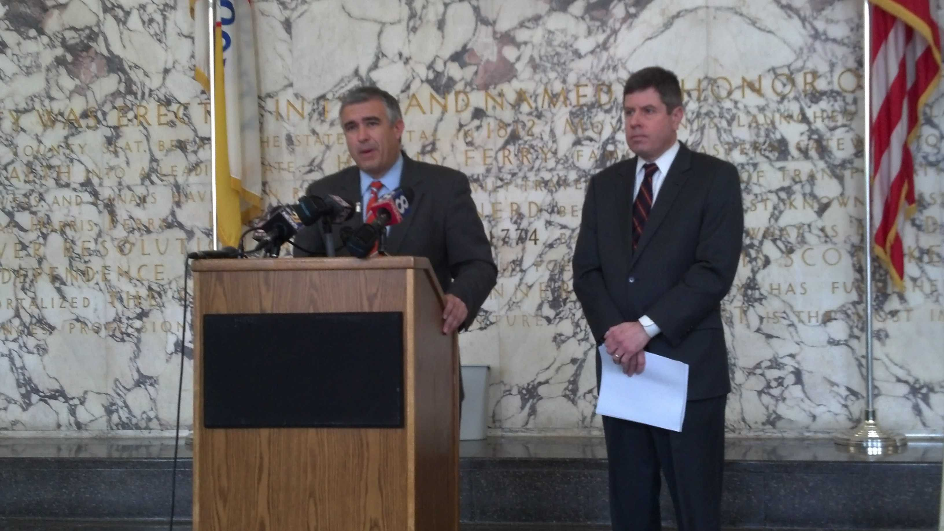Dauphin County Distirct Attorney Ed Marsico announces the findings of the grand jury investigation.
