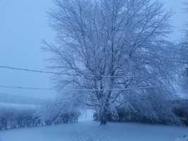 Kayla Bradshaw shared this picture on Facebook. It shows conditions in Mechanicsburg around 7:30 a.m. Monday.