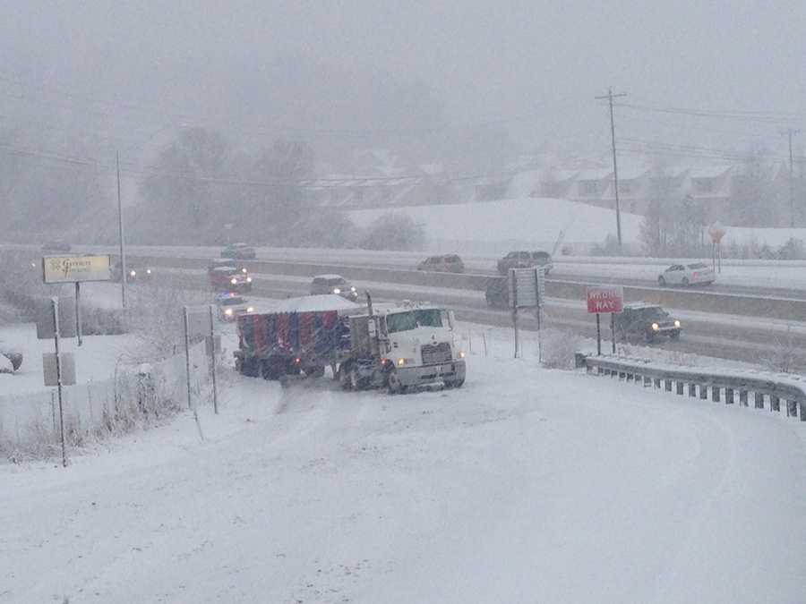 Lancaster County – the eastbound Route 30 off ramp onto Route 741, 7:50 a.m. Monday.