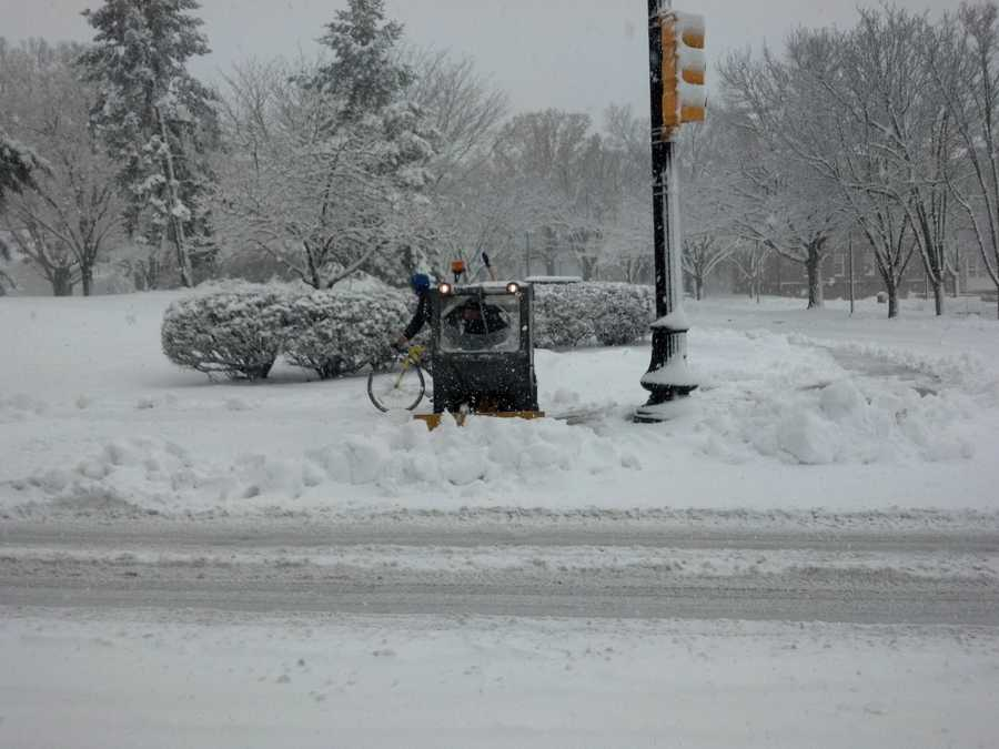 Liberty Street near Harrisburg Pike in Lancaster, Monday, 9:30 a.m.
