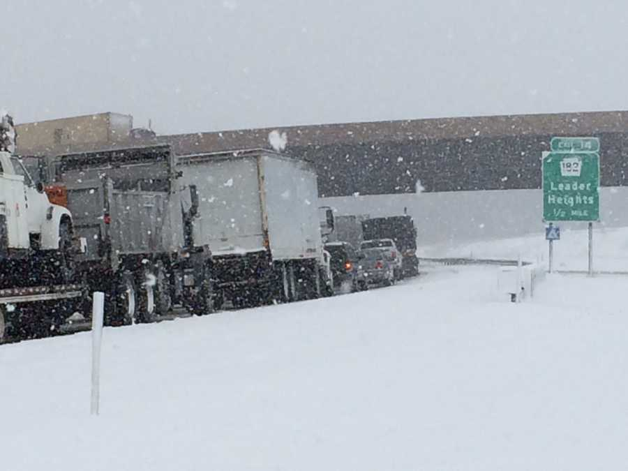 Southbound I-83 at Leader Heights, York County, 10:40 a.m. Monday.