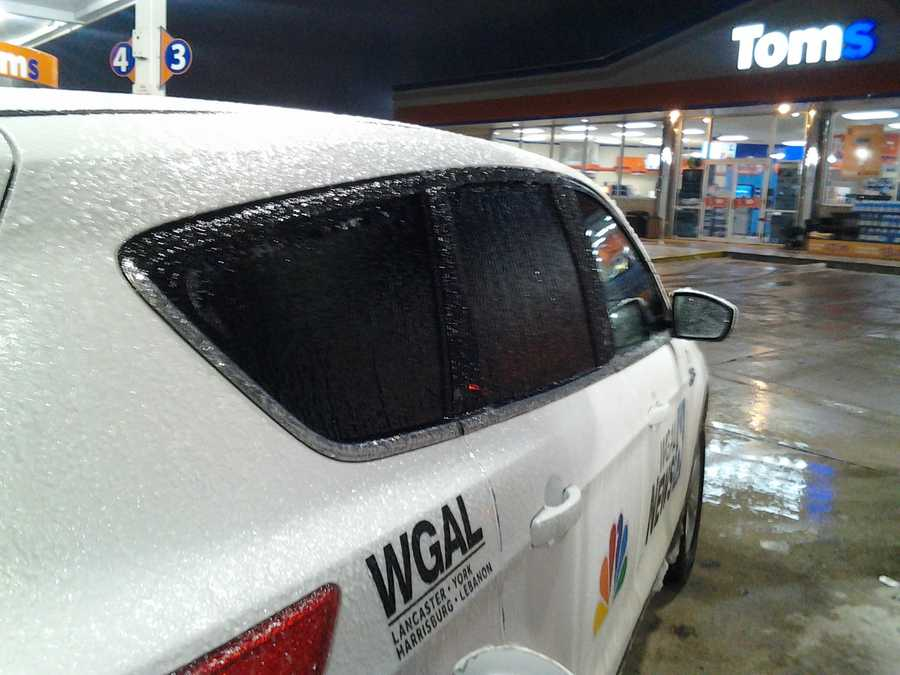 Ice is forming on many powerlines, roads and of course vehicles in parts of the Susquehanna Valley this morning. News 8 photographer snapped this and the following photos of his vehicle shortly after midnight on Wednesday in Shrewsbury, York County.