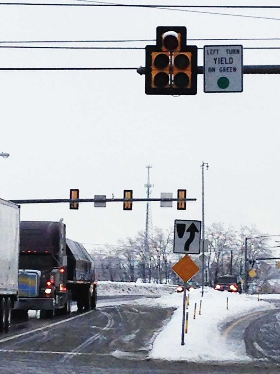 Traffic lights out, Rohrerstown Road near Route 30, Lancaster County, Wednesday morning.