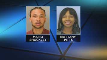 Police say Mario Shockley and Brittany Pitts tried to rob a man early Friday morning at the Rodeway Inn in Swatara Township.
