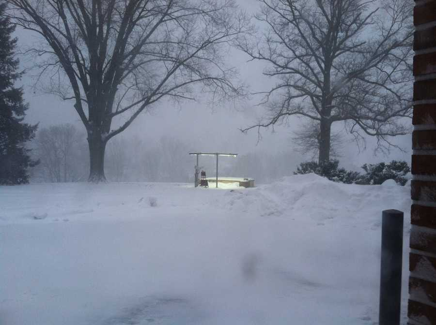 WGAL has two weather studios at our Lancaster Bureau. This is the outdoor one around 7 a.m. Thursday.