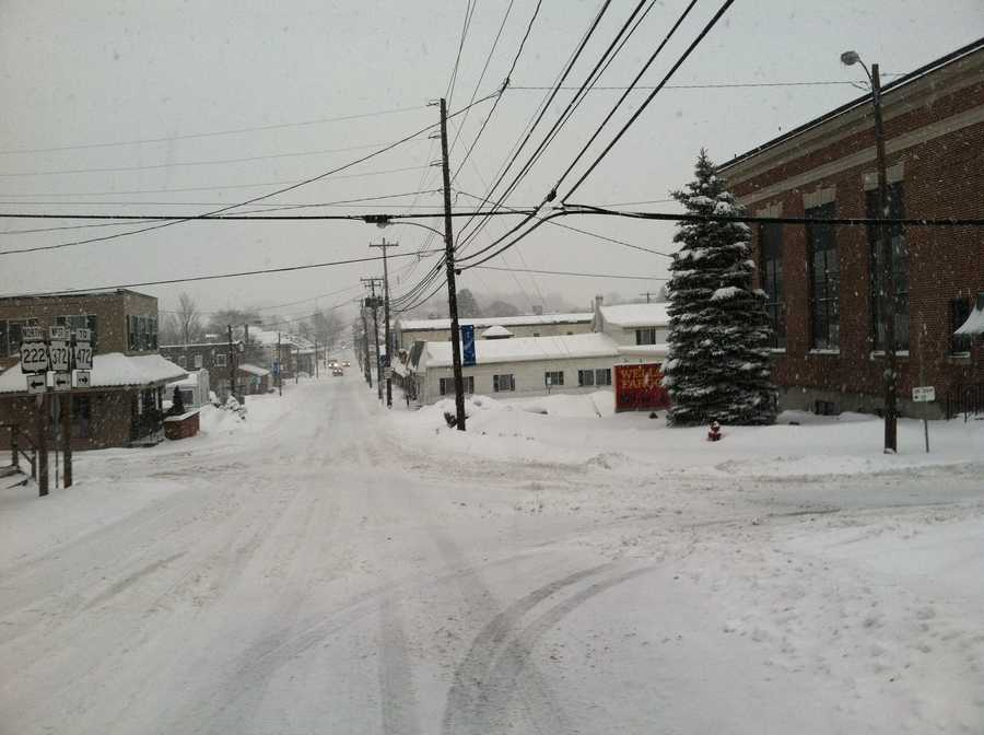 Quarryville, Lancaster County. State Street near North Church, 8:15 a.m. Thursday.