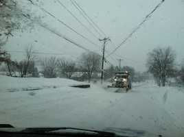 Plowing on South Church in Quarryville, 8:20 a.m. Thursday.