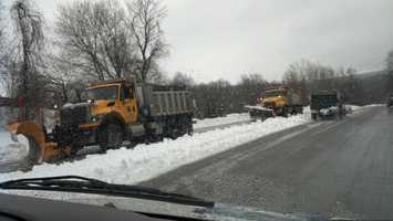 Plows on 272 just south of Willow Street, Lancaster County, 2 p.m. Thursday.